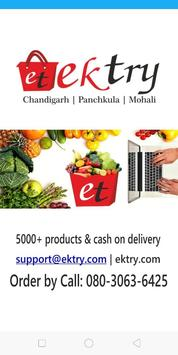 ekTry - Online Grocery poster