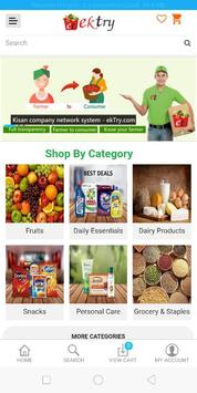 ekTry - Online Grocery screenshot 1