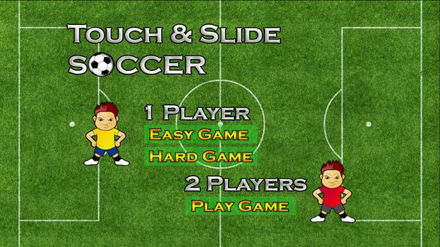 Touch Slide Soccer - Kids Game poster