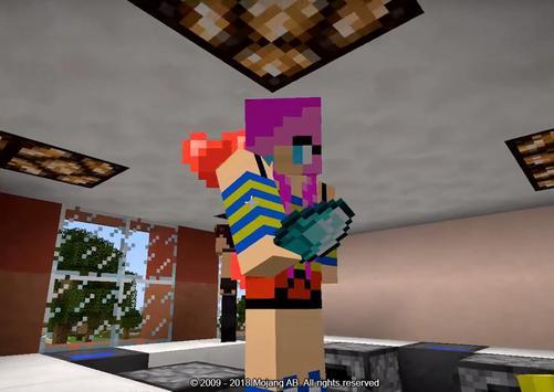 Girlfriend Mod for Minecraft poster