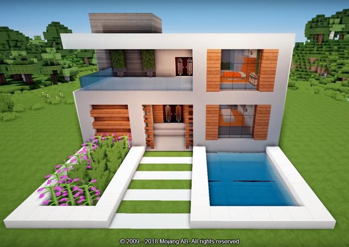 House building minecraft pe mod apk for Casa moderna minecraft pe 0 10 5