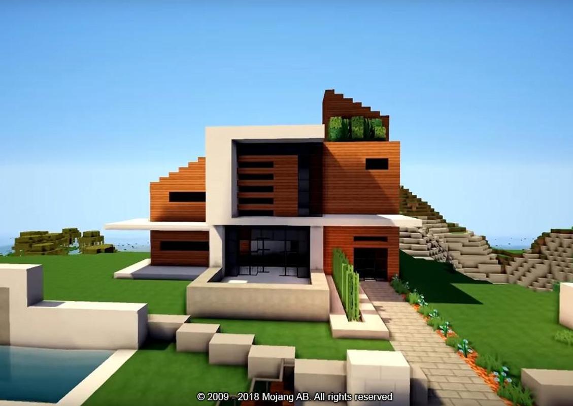 Modern houses minecraft pe mod poster