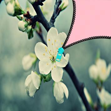 Beautiful flower zipper lock apk screenshot