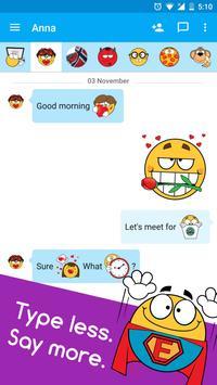 Ochat: emoticons for texting & Facebook stickers apk screenshot