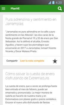 planVE - Extremadura poster