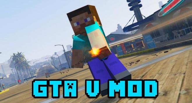 GTA 5 Mod for Minecraft PE poster