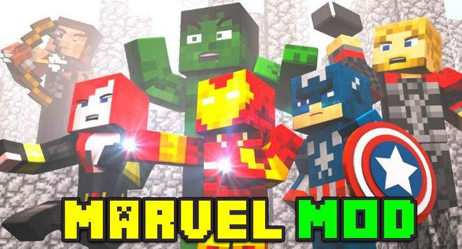 Marvel Mod for Minecraft PE poster