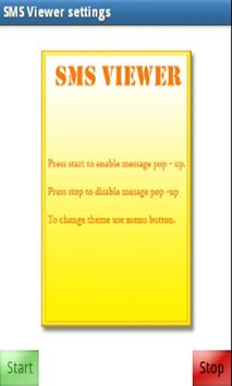 SMS PopUp apk screenshot