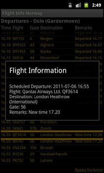 Flight Info Norway screenshot 1