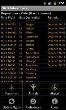 Flight Info Norway screenshot 2
