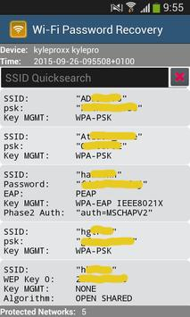 Wi-Fi Password Recovery apk screenshot