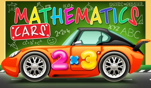 Mathematics cars children poster