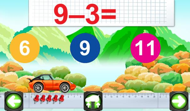Mathematics cars children screenshot 5