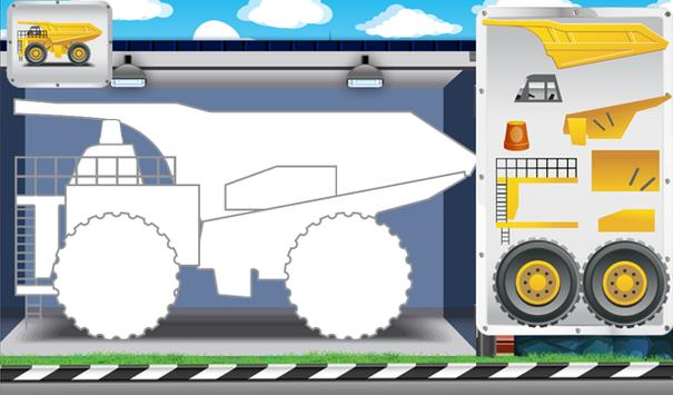 Animated Puzzles trucks cars screenshot 1