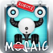 Puzzles tower robots icon