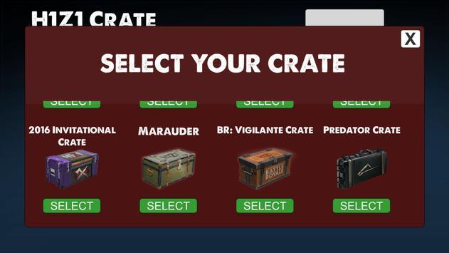 KOTK Crate Simulator (H1Z1) apk screenshot