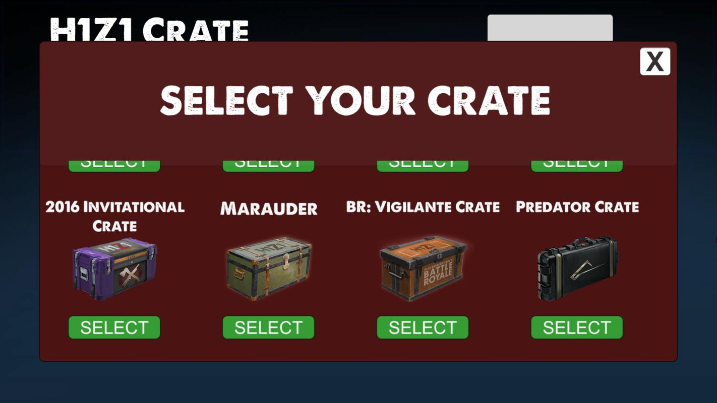 ... KOTK Crate Simulator (H1Z1) screenshot 4