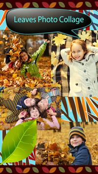 Leaves Photo Collage poster