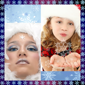 Snowflake Photo Collage icon