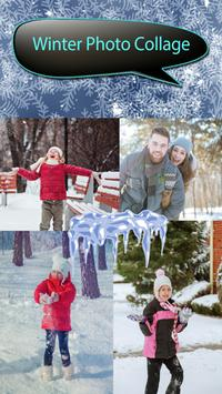 Winter Photo Collage poster