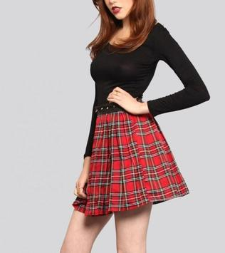 Plaid Skirt Outfit Styles screenshot 10