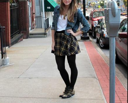 Plaid Skirt Outfit Styles screenshot 2
