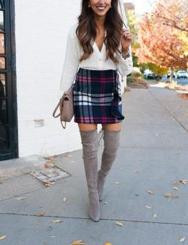 Plaid Skirt Outfit Styles screenshot 3