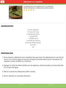 Recetas de la Cocina Mexicana screenshot 5