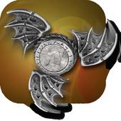 War of Flying Fidget Spinner Monsters 3D Sim icon