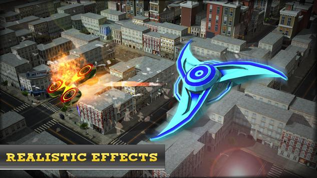 War of Flying Fidget Spinner Monsters 3D Sim screenshot 11