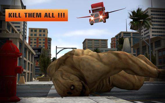 Futuristic Flying Truck vs Ugly Monsters Battle 3D screenshot 3