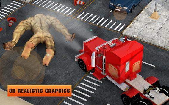 Futuristic Flying Truck vs Ugly Monsters Battle 3D screenshot 4
