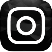 Dark  theme for instagram أيقونة