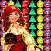 pirate quest treasure match 3 icon