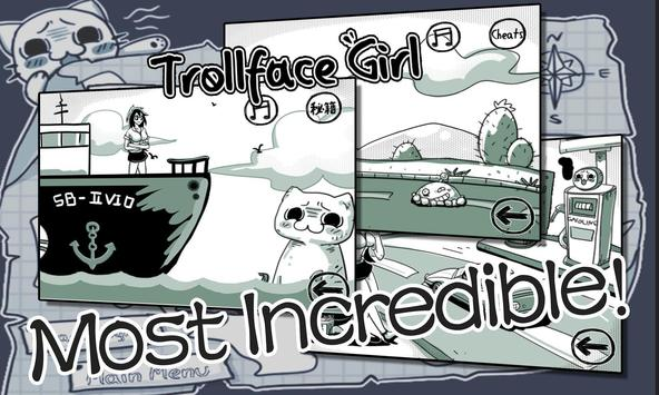 Troll Face Girl poster