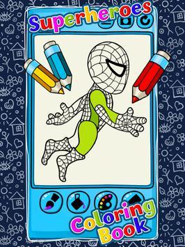 Superheroes Coloring Book screenshot 4