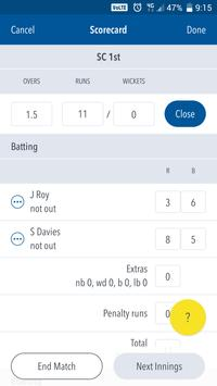 Play-Cricket Scorer apk screenshot