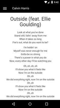 Calvin Harris Lyrics apk screenshot
