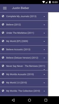 Justin Bieber Lyrics apk screenshot