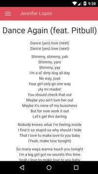 Jennifer Lopez Lyrics apk screenshot