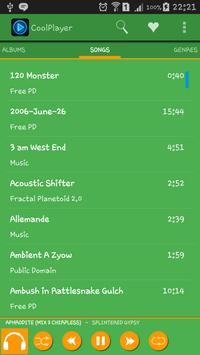 CoolPlayer greenorange theme screenshot 2