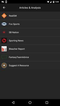 Fantasy Basketball News apk screenshot