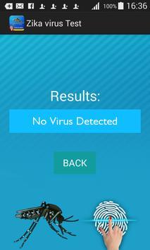 Zika Virus Scanner Prank Test apk screenshot