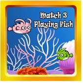 MATCH 3 PLAYING FISH icon