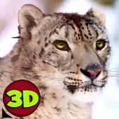 Wild Snow Leopard Simulator 3D icon