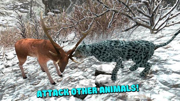 Wild Snow Leopard Simulator 3D poster