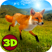 Wild Fox Survival Simulator 3D icon
