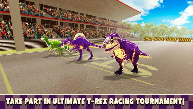 Jurassic Dinosaur T-Rex Race poster