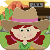 Cowgirl Horse Kids Games icon