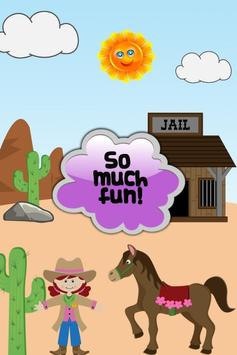 Cowgirl Horse Kids Games apk screenshot